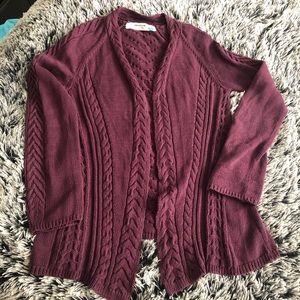 Sparrow knit cardigan Size M purple